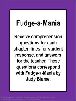 Fudge-a-Mania Book Unit