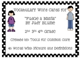 """Fudge a Mania"" Vocabulary Cards"