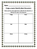 Fudge-a-mania Identify Main Characters ELA Common Core Activity