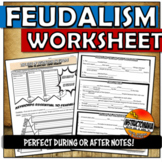 Feudal Europe PowerPoint Graphic Organizer or Worksheet