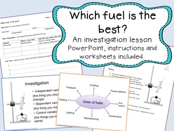 Fuel investigation lesson - comparing the temperature rise of fuels