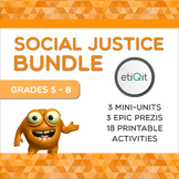 Injustice & Social Change Middle School Bundle | Prezis & Printable Activities