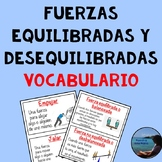 Fuerzas equilibradas y no equilibradas - Balanced and Unbalanced Forces Spanish