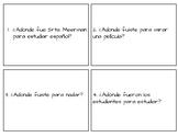 """El Verbo """"Ir"""" en el pretérito (fui fuiste fue...) Task Cards"""