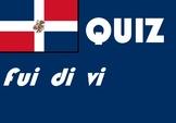 Spanish Español Fui di vi and -uve quiz or worksheet retea