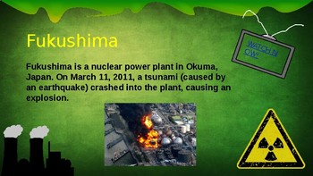 Fukushima Disaster Nuclear Chemistry Unit Power Points