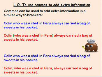 Full 3rd-5th Grade English lesson on using commas to add extra information