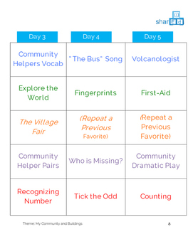 My Community - Full Lesson Plan with Activities
