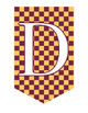 Full Alphabet Banner - Checkered Maroon and Gold