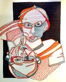 "Innovative Blind Contour Portrait ""With Flair!"" - LP, PPT, & Rubric"