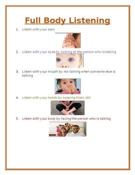 Full Body Listening Poster