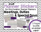 Small Planner Stickers for Erin Condren Teacher Planner ~