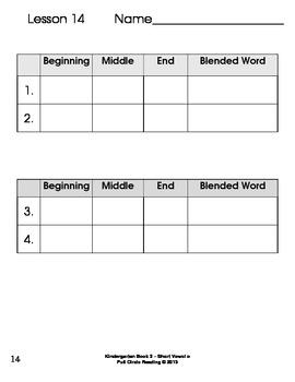 Full Circle Kindergarten Book 2 - Short Vowel o Word Families