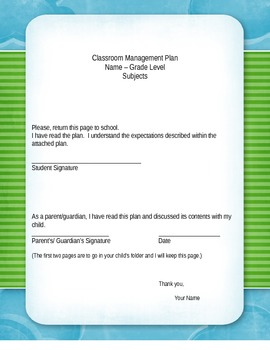 Full Classroom Management Plan