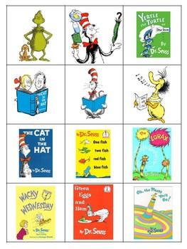 Full Color Dr. Seuss Bingo Game Featuring 20 Unique Bingo Cards