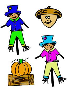 Full Color Fall and Halloween Clipart Pack by Learning 4 Keeps Design!