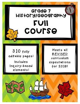 Full Comprehensive Course - Ontario History/Geography 7