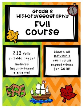 Full Comprehensive Course - Ontario History/Geography 8