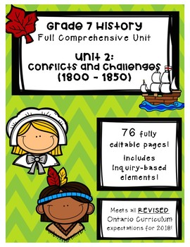 Full Comprehensive Unit - Conflicts and Challenges - Ontario History 7
