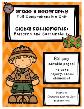 Full Comprehensive Unit - Global Settlements - Ontario Geography 8