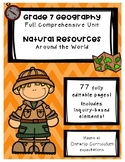 Full Comprehensive Unit - Natural Resources - Ontario Geography 7