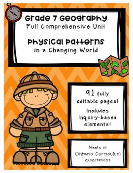 Full Comprehensive Unit - Physical Patterns - Ontario Geography 7
