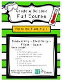 Full Course - Fill in the Blank Format - Grade 6 Science - Ontario Curriculum
