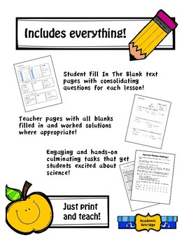 Full Course - Fill in the Blank Format - Split 7/8 Science - Ontario Curriculum