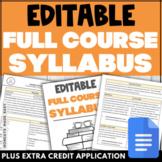 Full Course SYLLABUS   Editable Templates & Examples