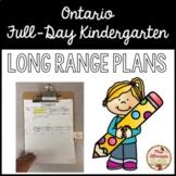Ontario Full Day Kindergarten - Long Range Plans