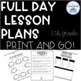 Emergency Sub Plans 5th Grade