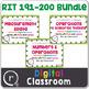 Full Digital Math Interventions or Test Prep Bundle NWEA RIT Band 181-220