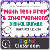 NWEA MAP Test Prep Math Full Bundle RIT Band 181-220 Google Slides Paperless