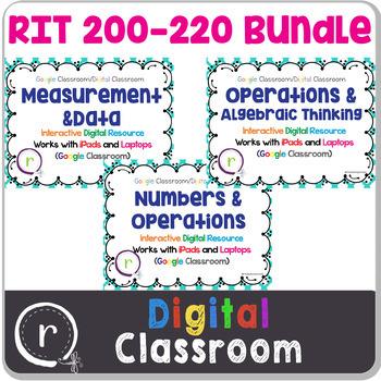Standardized Test Prep Math Full Bundle RIT Band 181-220 Google Slides Paperless