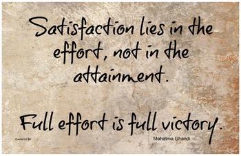 Full Effort 11x17 Classroom Poster Motivation Character Ed PDF