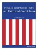 Full Faith and Credit Document Based Question (DBQ)