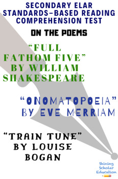 Full Fathom Five by W.S. Onomatopoeia by E. M. Train Tune by L.B. Poetry Test