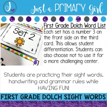 First Grade Sight Word Centers *