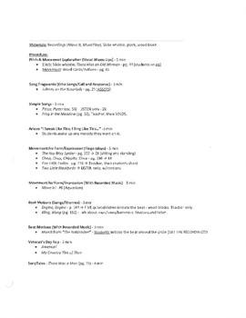 General Music Lesson Plans