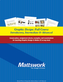 Full Graphic Design Course / Intro thru Advanced / Lesson Plans / Assignments