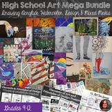 Full High School Art Mega Bundle -  Acrylic, Watercolor, Mixed Media, Drawing
