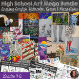 Full High School Art Mega Bundle -  Acrylic, Watercolor, Mixed Media, Drawing