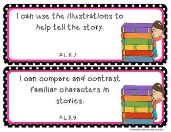 "Full Kindergarten Common Core ""I Can..."" Statements ELA & Math"