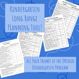 Full Kindergarten Program Checklist (Long Range Planning)