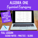Full Lesson Algebra 1 Calculator Skills Equivalent Expressions Distance Learning