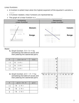 """Full Lesson """"Unit 3 Obj 25: Graphing Continuous Linear Functions"""""""