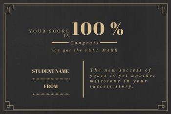 Full Mark Certificate