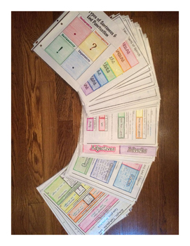 Full Middle School Grammar Foldable Curriculum-9 Units with Tests & Study Guides