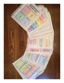 Full Middle School Grammar Foldable Curriculum-9 Units wit