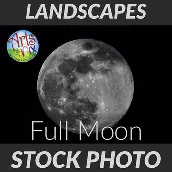 Full Moon - Stock Photo - Photograph - Astronomy - Moon